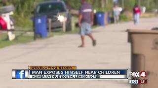Man exposes himself in front of kids - Video