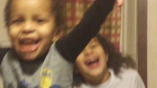 A Little Girl's New Years Resolutions Get Interrupted By Her Little Brother - Video