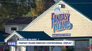 Fantasy Island Halloween display removed after complaints - Video