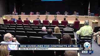 New guidelines for contracts at the Solid Waste Authority - Video