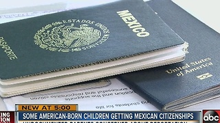 Undocumented parents rushing to get their American-born children Mexican citizenships - Video