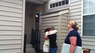 Sweet Homecoming Surprise - Video