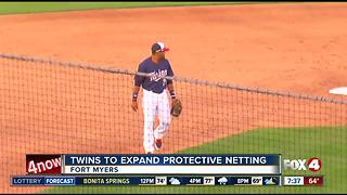 Twins update safety netting in stadium - Video