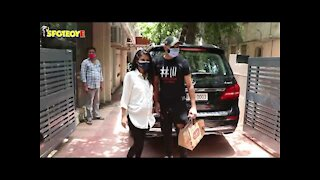 Harbhajan Singh With Wife Geeta Basra Snapped At A Maternity Clinic