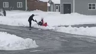 May Snowstorm Cancels School in Newfoundland - Video