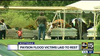 Family, friends hold funeral for Payson flash flood victims - Video