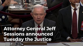 Justice Department Announces New Restrictions Against Sanctuary Cities - Video