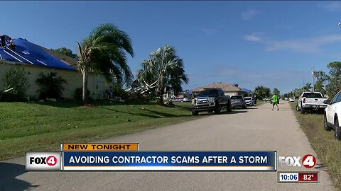 Avoiding contracting scams after a storm