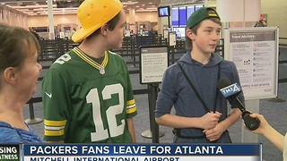 Packers fans headed en masse to Atlanta - Video