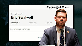 New York Times Still Hasn't Covered The Eric Swalwell/China Story, AOC Defends Sex Work In Odd Tweet