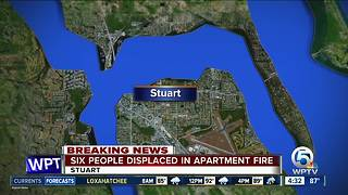 4 children among 6 people displaced by Stuart fire - Video