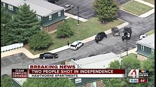 Police: 2 people shot; active shooter near Hawthorne Apartments in Independence - Video