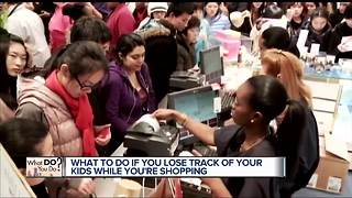 What to do if you lose track of your kids while you're shopping - Video