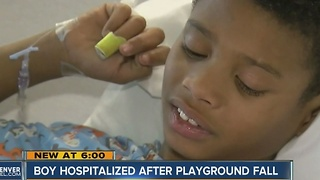 Douglas County boy recovers from playground fall, a relatively common injury among children - Video
