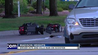 Driver hits and kills man on scooter in Madison Heights - Video