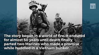 83-Yr-Old Vietnam Vet Keeps Promise He Made Marine Friend in Foxhole Nearly 50 Yrs Ago - Video