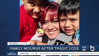 Family in mourning after a tragic loss