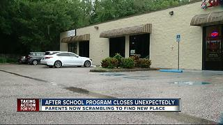 After school program closes unexpectedly. - Video