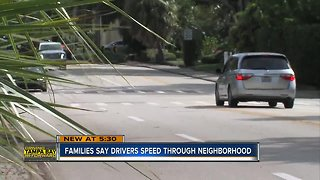 Families say drivers speed through neighborhood