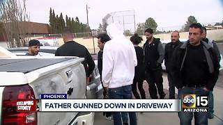 Phoenix family grieving after father gunned down in driveway - Video