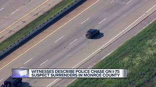 Witnesses describe police chase on I-75 - Video