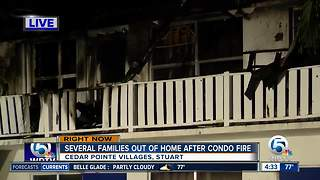 Several families displaced by large Stuart condo fire - Video