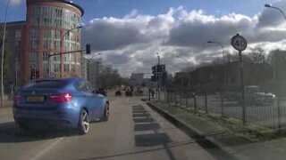 Reckless driver nearly causes brutal accident