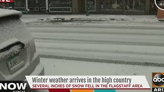 Winter weather continues to bring snow to the high country - Video
