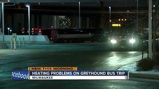 Passengers upset after heat breaks on Greyhound bus - Video