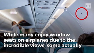 Look For This Black Triangle Next To Your Airplane Seat - Video