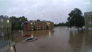 Timelapse Captures Dramatic Flooding in Houston - Video