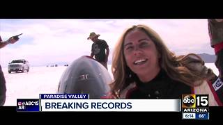 Paradise Valley woman takes aim at major motorcycle record - Video