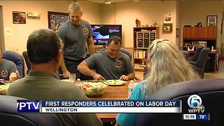 First responders celebrated on Labor Day - Video