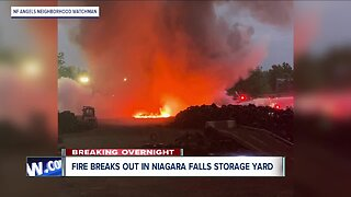 Crews battle fire in Niagara Falls storage yard