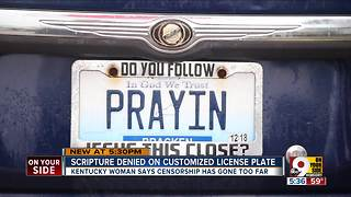 Want MATT6-9 on your Kentucky custom license plate? You don't have a prayer - Video