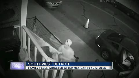 Mexican flag stolen from One Michigan for Immigrant Rights in Detroit