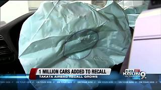 More than 1 million cars added to Takata airbag recall - Video