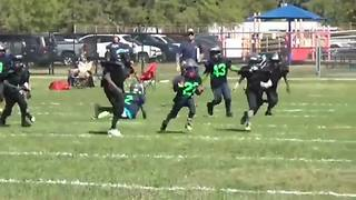 6-year-old football phenom dominates 8-year-old competition