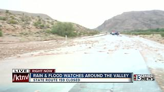 State Route 159 shut down due to monsoon storm
