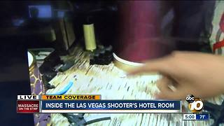 A look inside gunman's Las Vegas room - Video