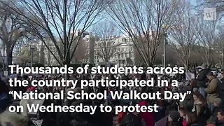 Camera's Catch What Students' Real Mission Was During National Walkout Day - Video