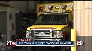 Pike Township Fire Department considering Indianapolis Fire Department merger - Video
