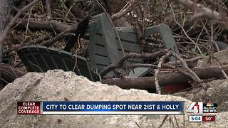 City plans to build alleyway to prevent illegal dumping in KCMO neighborhood - Video