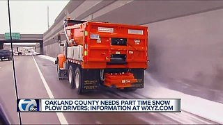 Oakland County still looking to hire part-time snowplow drivers
