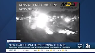 New traffic pattern coming to 695