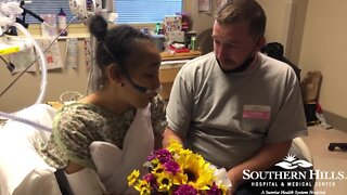 RAW: Woman marries boyfriend in hospital