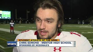 Student Athlete of the Week: Chris Edmond - Video