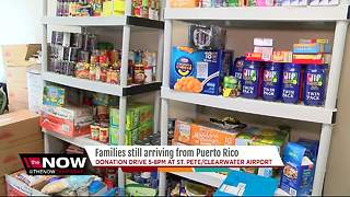 St.Pete-Clearwater airport hosts supply drive for hurricane refugees - Video