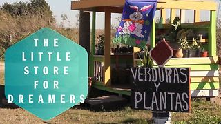 This small vegetable stand has a big message on trust - Video