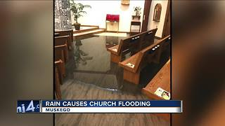 Muskego flooding doesn't stop church services at St. Leonard Catholic Church - Video